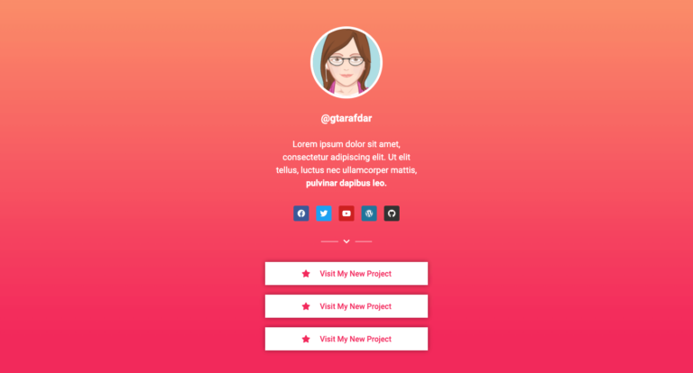 Social Bio Link Design 07